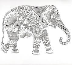 18 éléphants en coloriages zen  JeColoreorg