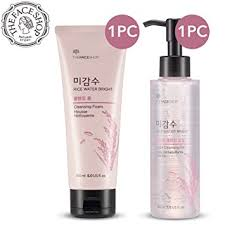 the face shop rice water bright cleansing light oil amazon com the face shop rice water bright cleansing foam 150 ml
