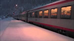 obb austria station langen am arlberg winter