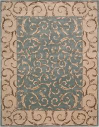 Beautiful Rugs by Decorating Beautiful Versailles Palace Aqua Vp13 Nourison Rugs