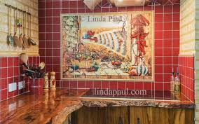 mural tiles for kitchen backsplash mexican tile murals chili pepper kitchen backsplash mural tile