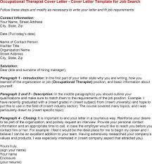 occupational therapy cover letter occupational therapist cover