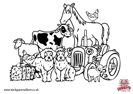 colouring pages hardys animal farm