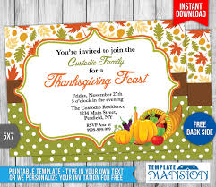 thanksgiving invitation template 2 by templatemansion on deviantart