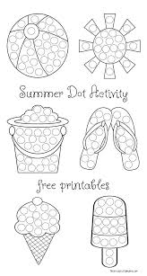 summer dot activity free printables the resourceful mama