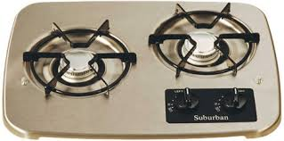 Gas Cooktops Canada Amazon Com Suburban 2937ast 2 Burner Stainless Cooktop Automotive