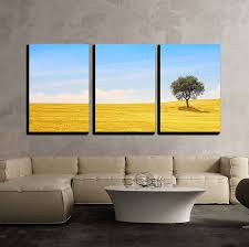 wall26 com art prints framed art canvas prints greeting wall26 3 piece canvas wall art tuscany country landscape olive tree and green fields montalcino italy europe modern home decor stretched and framed