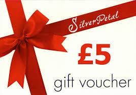 5 gift card 5 gift voucher silverpetal
