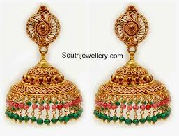 gold jhumka earrings gold jhumka designs