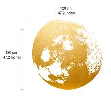 golden moon wall decal moonwallstickers com golden moon wall decal dimensions