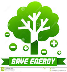 Tree Symbols Save Energy Sign With Tree And Symbols Stock Vector Image 60413127