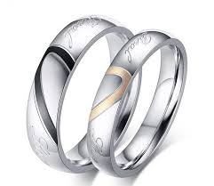 steel promise rings images 2018 fashion real love heart stainless steel couple finger rings jpg