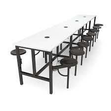standing height folding table ofm endure standing height 16 person table in dark vein and white