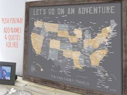 map usa framed usa map map of united states family travel decor framed