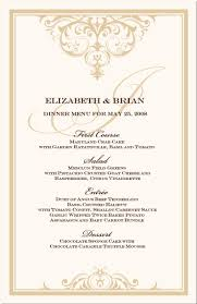 wedding menu templates wedding menu cards vintage monogram menu cards special event menu