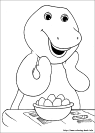 free printable barney coloring pages kids eson