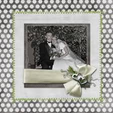 Wedding Scrapbook Page With This Ring I Thee Wed