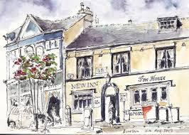 urban sketching drawing the street