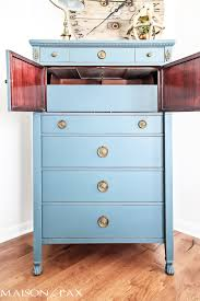 best paint for furniture vintage dresser painted blue and a giveaway maison de pax