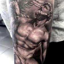 black and grey classical tattoo by george paunescu tattoo