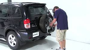 toyota rav4 spare tire review of the thule spare me spare tire mount bike rack on a 2003
