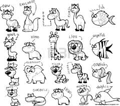 animals clipart for kids black and white clipartsgram com