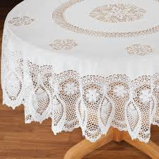 Patio Party Vinyl Tablecloth by Vinyl Lace Tablecloth Vinyl Tablecloth Miles Kimball