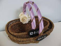 Basket For Wedding Programs Wedding Program Cover Calla Lily Grey Background U6274