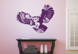 Owl Wall Decor by Barn Owl Set Wall Decals Awesome Bird Vinyl Decal