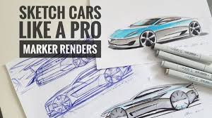 how to sketch draw design cars like a pro marker renders