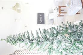 christmas diy how to snow flock a christmas tree