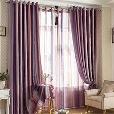 Silver Purple Curtains Ffmode Gradient Stripes Blackout Drapes Curtains Grommet Top 42