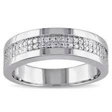 mens wedding bands with diamonds men s wedding bands groom wedding rings for less overstock