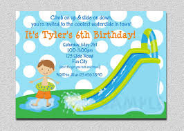 Free Printable Birthday Invitation Cards For Kids Waterslide Birthday Invitations Water Slide Birthday Party