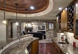 custom basement bar with stone veneer on the walls bars and wet