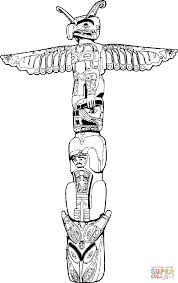 totem pole coloring page free printable coloring pages