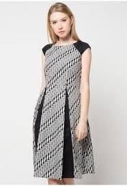 Batik Bateeq wanita pakaian dress mini dress sleeve cotton print