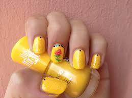 la bella e la bestia nail art beauty and the beast nails youtube