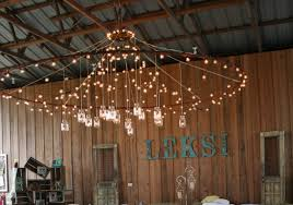 themed chandelier jar lighting and other rustic decor as leksi s footloose