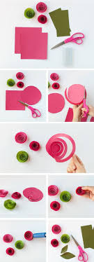 tutorial kerajinan tangan dari kertas gulung cara mudah membuat bunga dari kertas bikin ide kerajinan tangan