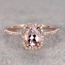 morganite wedding set ring for women 1 35ctw morganite engagement ring 14k gold