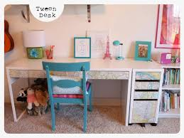 Cute White Desk Decorating Awesome Ikea Micke Desk In White And Cream With