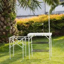 outdoor cooking prep table re17021 kinbor folding cing kitchen table portable outdoor