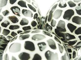 4 capiz large decorative balls orbs spheres safari