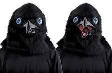 Raven Halloween Costume Animated Crying Raven Bird Costume Mask Opening Beak