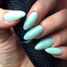 stiletto claws gel nails no chip manicure pastel mint my