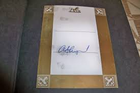autograph plate alan shepard signed book plate authentic collectspace messages