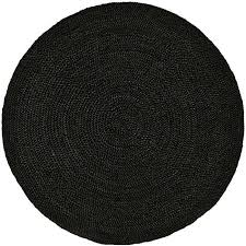Braided Rugs Hand Woven Black Jute Braided Rug 6 U0027 Round Free Shipping Today