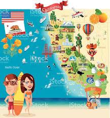 Map Of San Diego California by Cartoon Map Of California Stock Vector Art 477165374 Istock