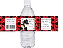 ladybug baby shower water bottle labels